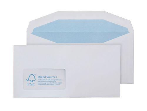 Purely Environmental Mailer Gummd Wndw White 90gsm DL+ 114x229 Ref FSC374 Pk1000 *10 Day Leadtime*