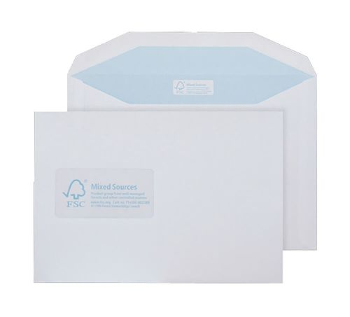 Purely Environmental Mailer Gummed Wndw White 90gsm C5+ 162x238 Ref FSC478 Pk500 *10 Day Leadtime*
