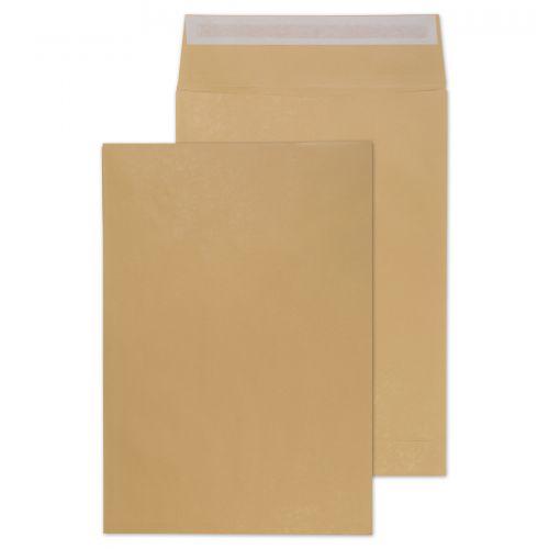 Blake Purely Packaging Manilla Peel & Seal Gusset Pocket 450X324X30mm 140Gm2 Pack 125 Code G55501 3P
