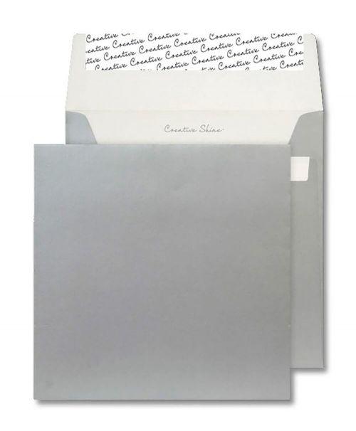 Creative Shine Square Wallet P&S Metallic Silver 130gsm 160x160mm Ref M612 Pk 500 *10 Day Leadtime*