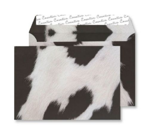 Creative Senses Wallet P&S Fresian Cow Hide 135gsm C5 162x229mm Ref NT359 Pk 125 *10 Day Leadtime*