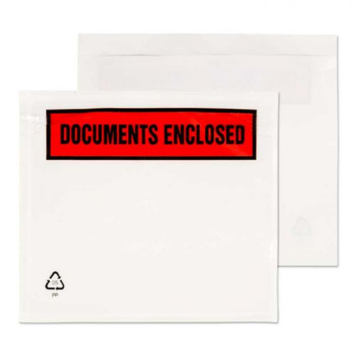 A7 Documents Enclosed Envelopes Pk1000