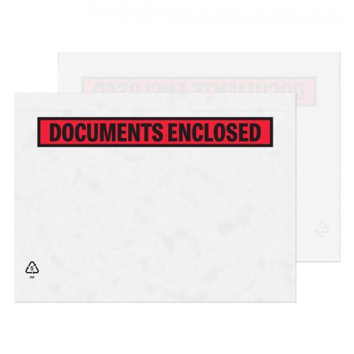 Blake Purely Packaging Clear - Printed Peel & Seal Wallet 235x175mm 30Mu Pack 1000 Code PDE42