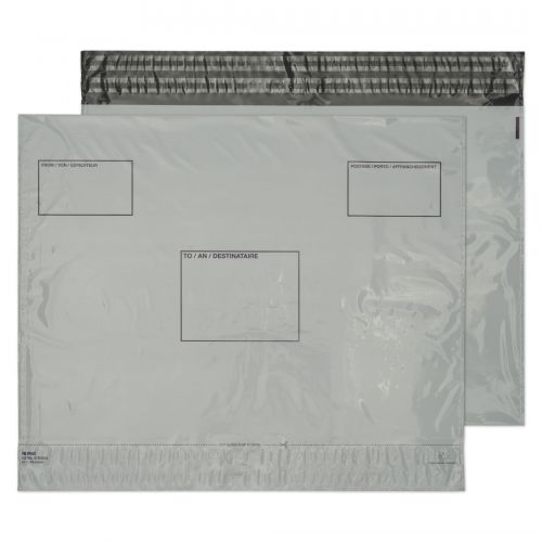 Blake Purely Packaging White Peel & Seal Polythene Wallet 395X400mm 50Mu Pack 500 Code Pe83/W 3P
