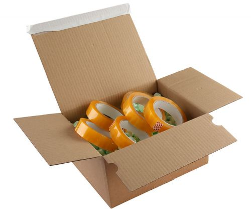 Blake Purely Packaging Postal Box P&S 305x215x140-220mm Kraft Ref PEB35 [Pk20] *10 Day Leadtime*