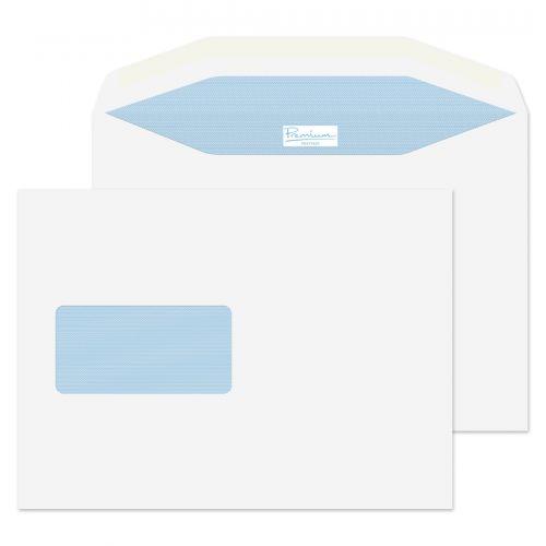 Blake Premium Postfast Mailing Wallet Wndw Gum White C5 90gsm Ref PF708DG Pk500 *10 Day Leadtime*