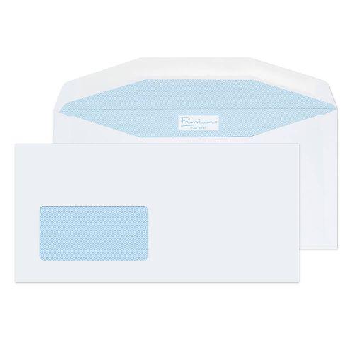 Blake Premium Postfast White Window Gummed Wallet 114X235mm 90Gm2 Pack 500 Code Pf904Dg 3P