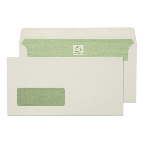 Purely Environmental DL 90gsm SS Wdw Wallet Ntrl White PK500