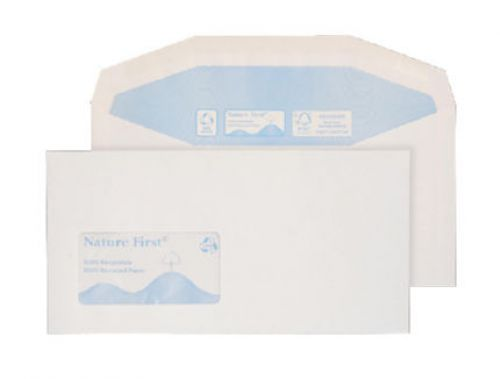 Blake Purely Environmental White Window Gummed Mai ler 114X235mm 90Gm2 Pack 1000 Code Rn0016 3P