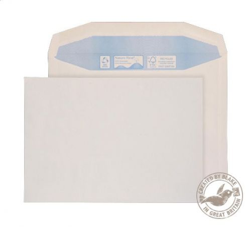 Blake Purely Environmental White Gummed Mailer 155X220mm 90Gm2 Pack 500 Code Rn0017 3P