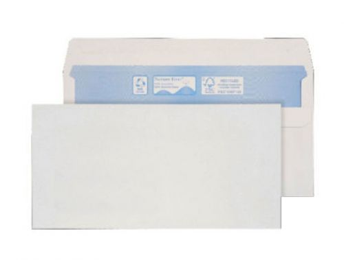 Purely Environmental Wallet Gummed White 80gsm BRE 102x216mm Ref RN010 Pk 1000 *10 Day Leadtime*
