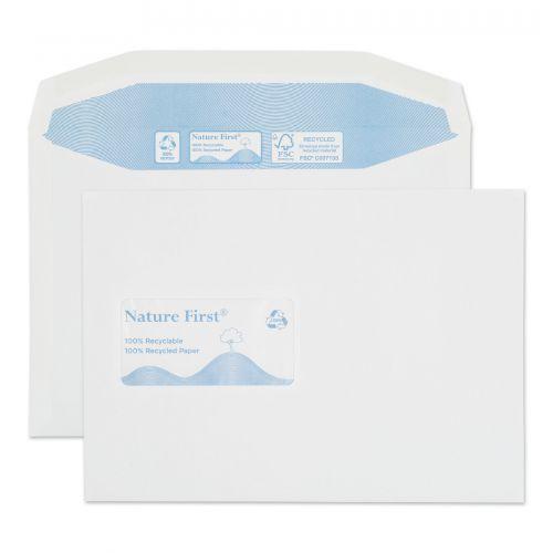 Blake Purely Environmental White Window Gummed Mai ler 162X229mm 90Gm2 Pack 500 Code Rn025 3P