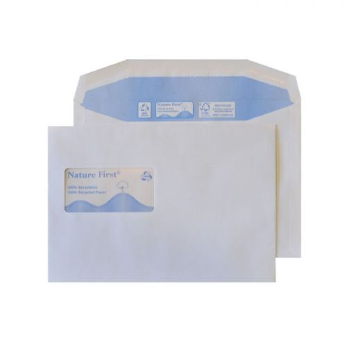 Blake Purely Environmental White Window Gummed Mailer 162X229mm 90Gm2 Pack 500 Code Rn026 3P