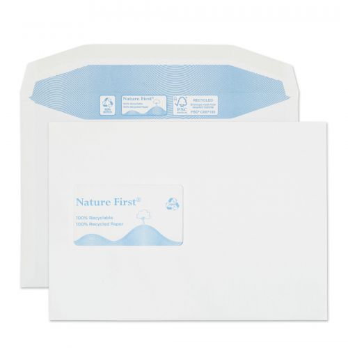 Blake Purely Environmental White Window Gummed Mailer 162X229mm 90Gm2 Pack 500 Code Rn027Cbc 3P