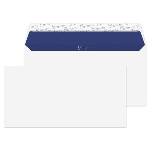 Blake Premium Pure Super White Wove Peel & Seal Wallet 110X220mm 120Gm2 Pack 500 Code Rp81882 3P