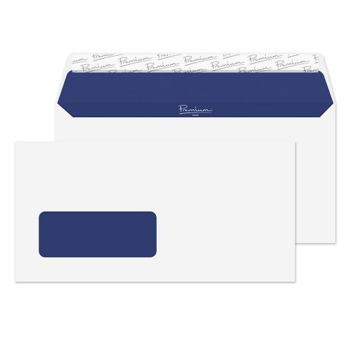 Blake Premium Pure Wallet Envelope DL Peel and Seal Window 120gsm Super White Wove (Pack 500)