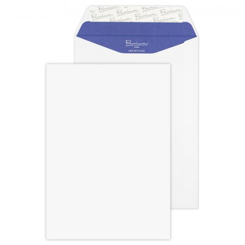 Blake Premium Pure Pocket Envelope C5 Peel and Seal Plain 120gsm Super White Wove (Pack 500)