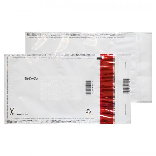 Blake Purely Packaging White/White/Black 3 P&S Polythene Pocket 260x165 70Mu Pk1000 Code SE720
