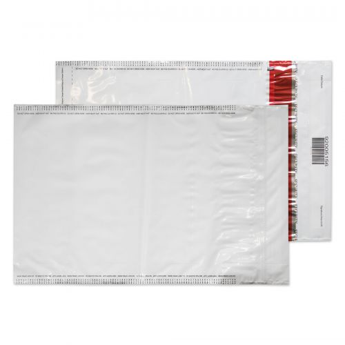 Blake Purely Packaging White/Black Co-Ex Ld P&S Polythene Pocket 320X240 70Mu Pk500 Code Se920 3P