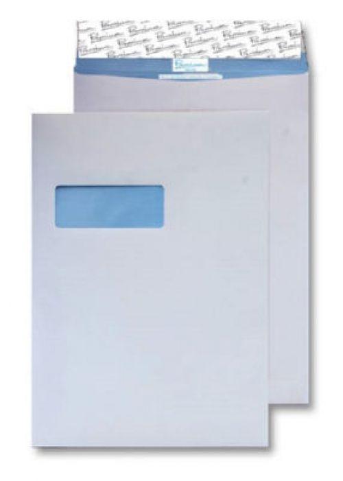 Blake Premium Secure Gusset P&S Window White C4 125gsm x100