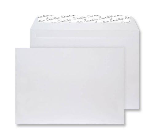 Blake Creative Senses White Velvet Peel & Seal Wallet 162X229mm 140Gm2 Pack 125 Code V641 3P