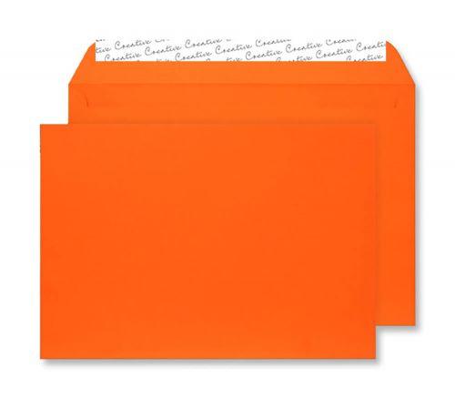 Creative Senses Wallet P&S Orange Velvet C5 162x229mm 140gsm Ref V642 [Pack 125] *10 Day Leadtime*
