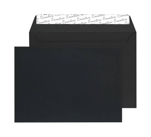 Blake Creative Senses Black Velvet Peel & Seal Wallet 229X324mm 140Gm2 Pack 125 Code V745 3P