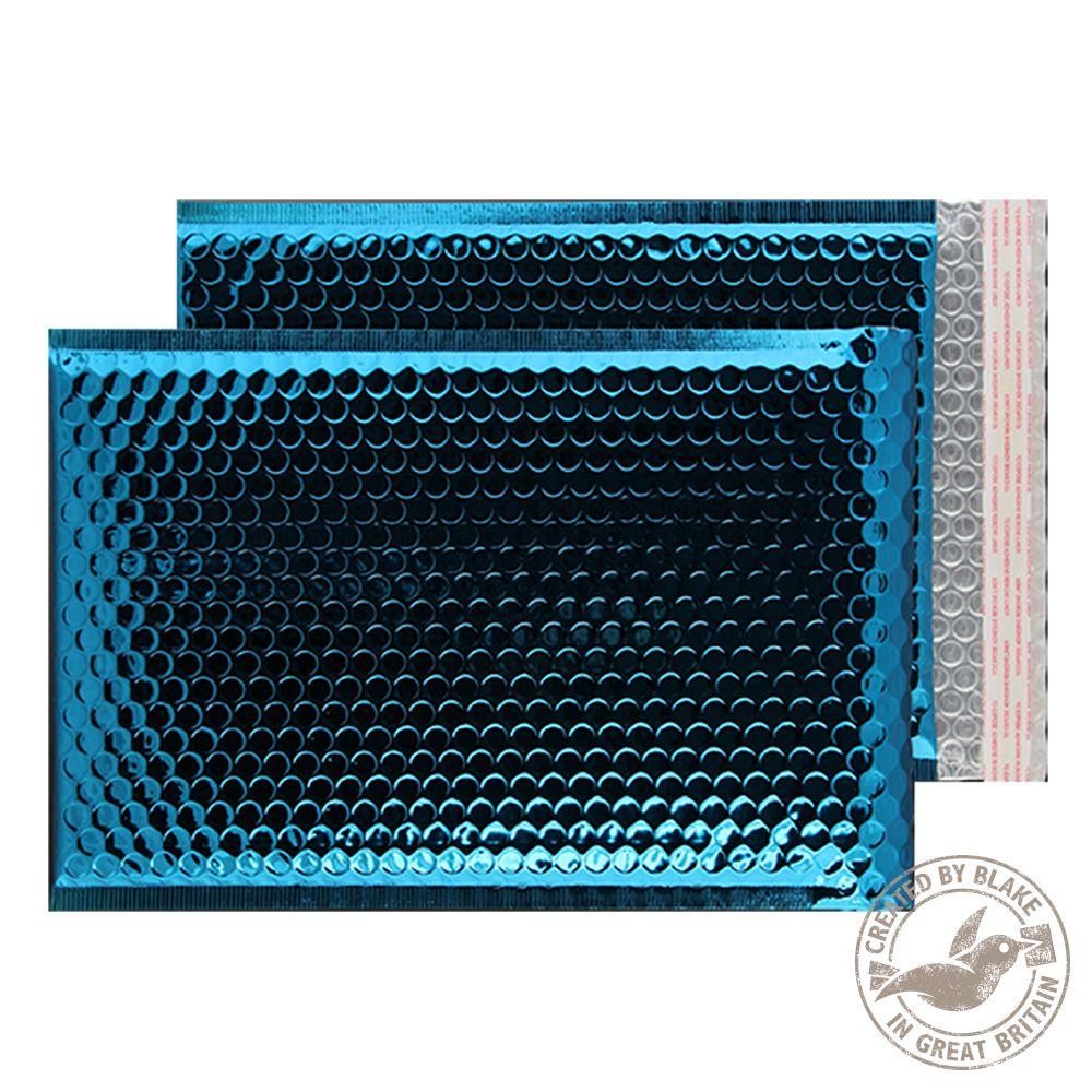 Blake Purely Packaging Peacock Blue P&S Padded Bubble Pocket 450x324 70Mu Pk50 Code MBBLU450