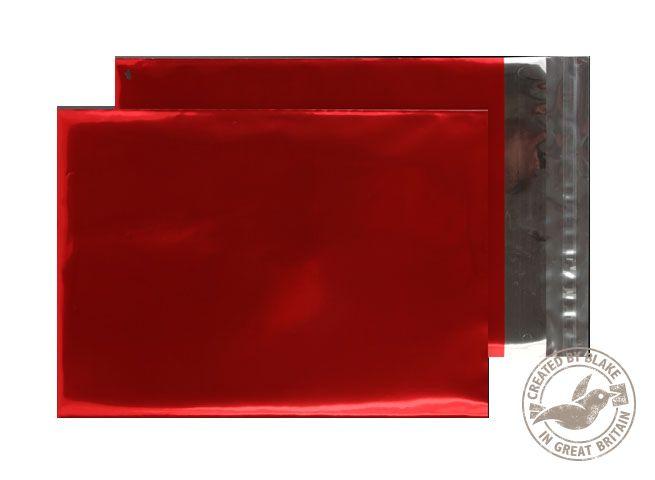Blake Purely Packaging Metallic Red Peel & Seal Foil Pocket 324x229mm 70Mu Pack 250 Code MF906