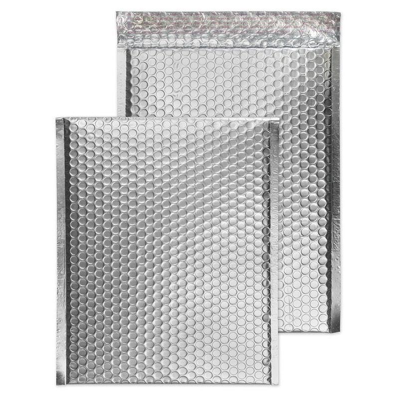 Blake Purely Packaging Metallic Silver P&S Padded Bubble Pocket 324x229 70Mu Pk100 Code MTA324