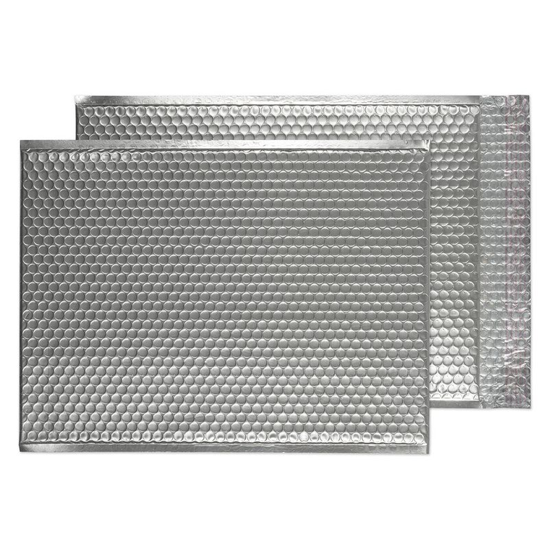 Blake Purely Packaging Metallic Silver P&S Padded Bubble Pocket 450x324 70Mu Pk50 Code MTA450