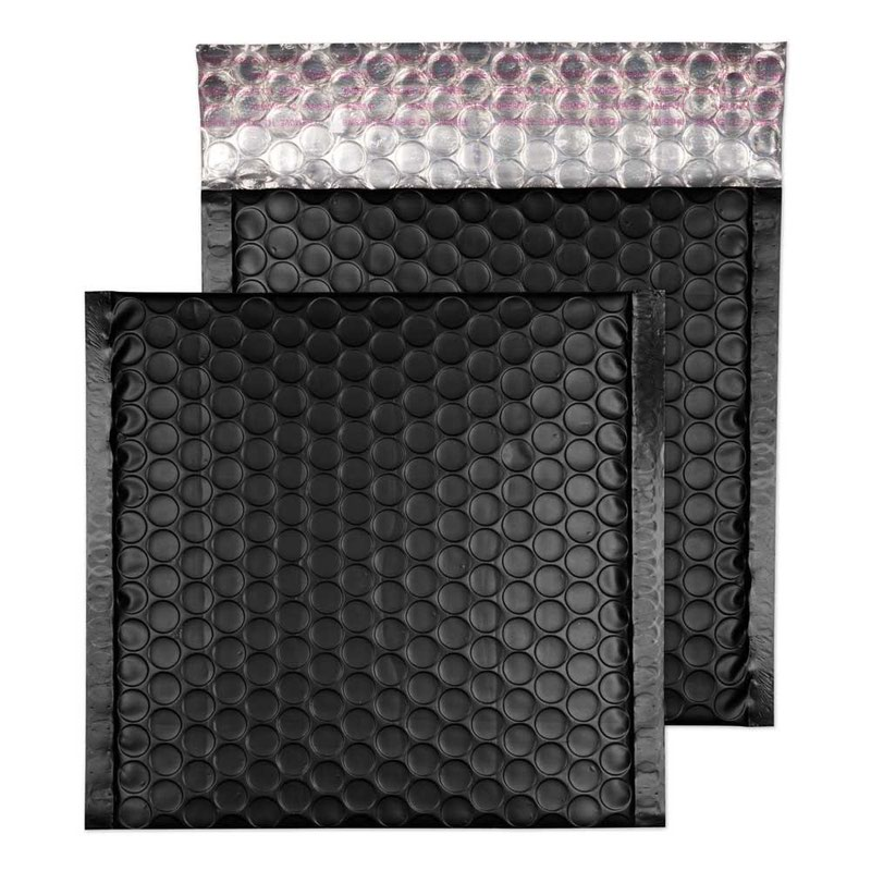 Blake Purely Packaging Jet Black Peel & Seal Padded Bubble Wallet 165x165 70Mu Pk100 Code MTB165