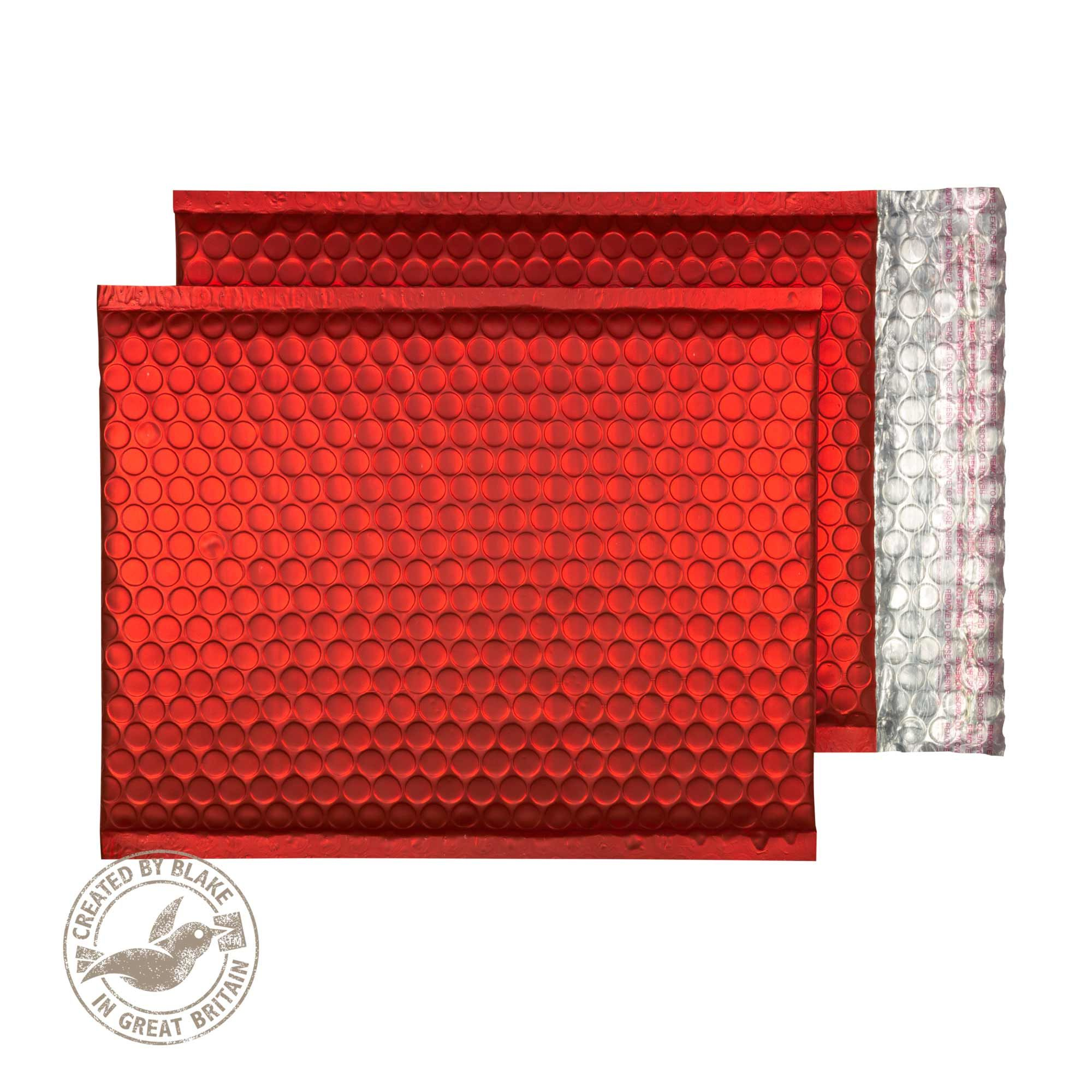 Blake Purely Packaging Pillar Box Red Peel & Seal 250x180mm 70Mu Pack 100 Code MTPBR250