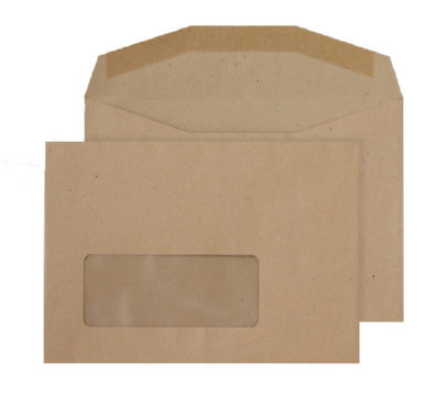 C5 Purely Everyday C6 80gsm Gummed Window Mailer Manila PK1000