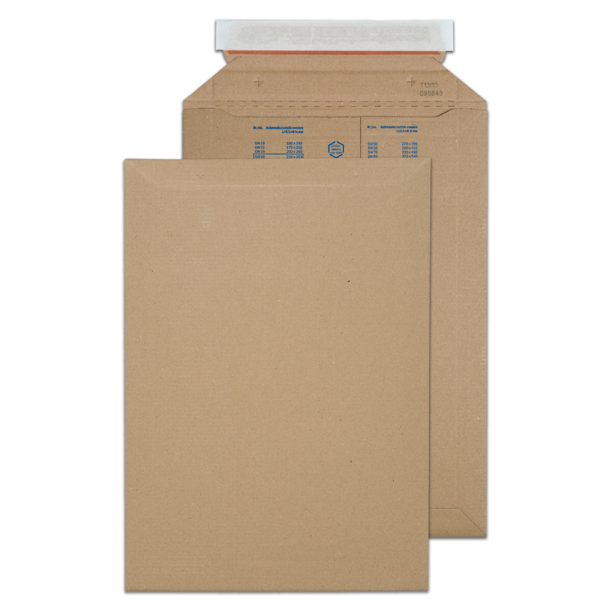 Purely Packaging Corrugated Pkt PS Kraft 353x250mm PK100