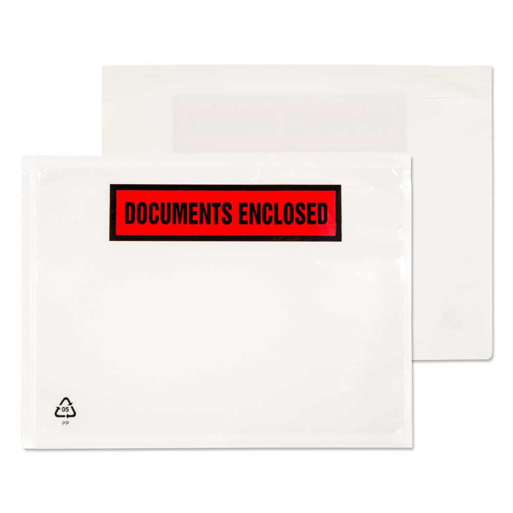 Blake Purely Packaging Clear - Printed Peel & Seal Wallet 168x126mm 30Mu Pack 1000 Code PDE22