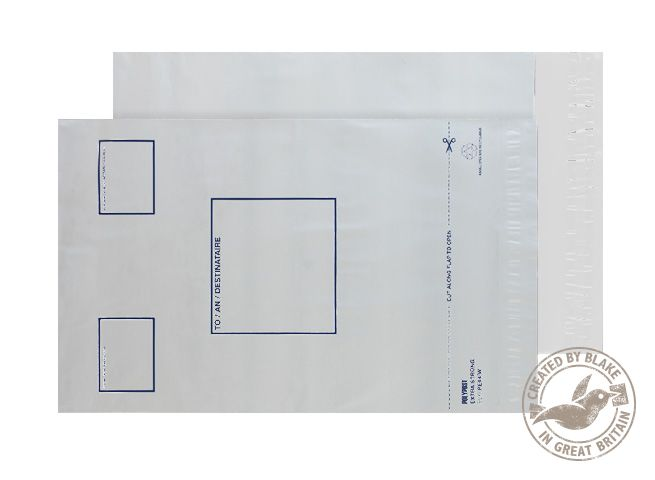 Tear Resistant Purely packaging C4 Plus Poly Mailer Address Panel P&S PK100