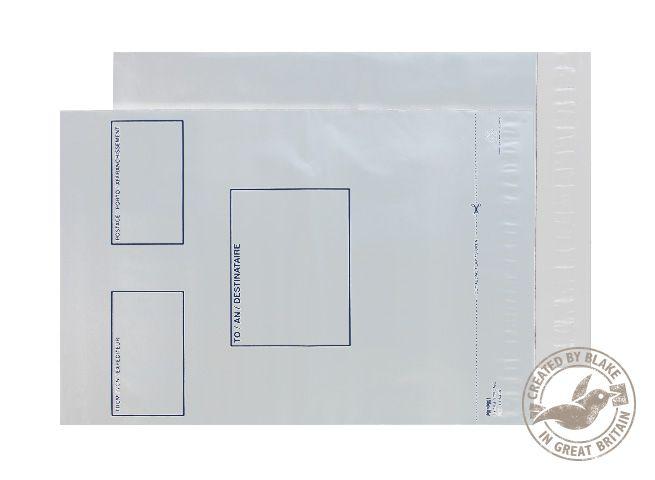 Blake Purely Packaging White Peel & Seal 330x430mm Pack 500 Code PE64/W/5 PR