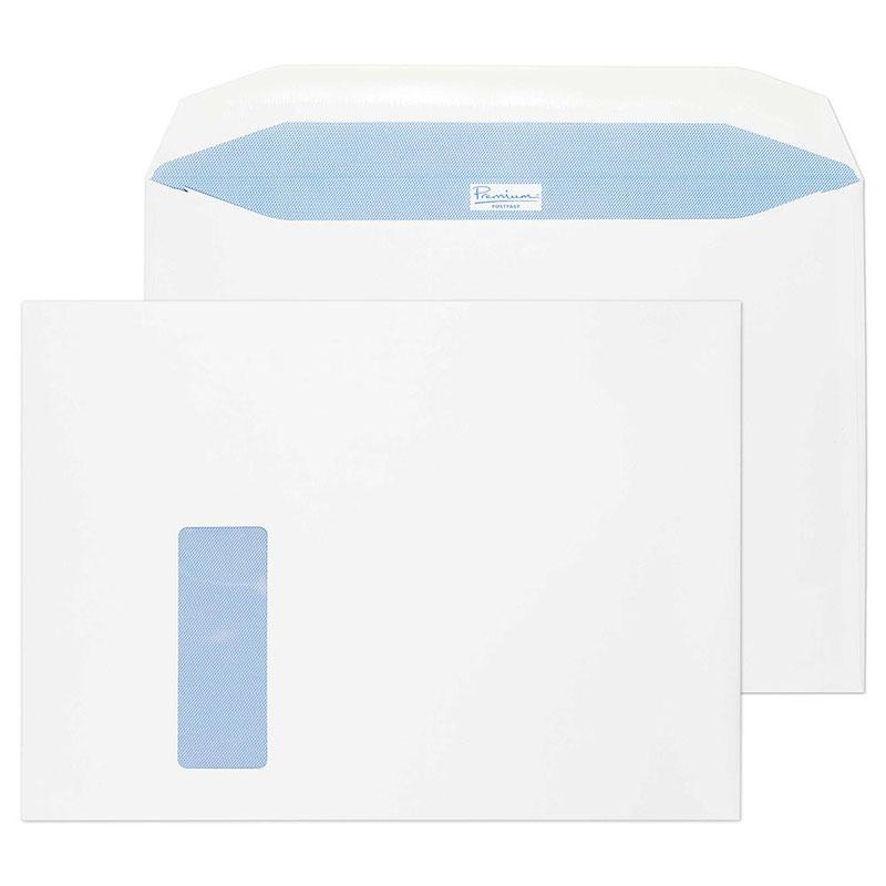Blake Premium Postfast C4 MailWallet Gum Window 100gsm White Ref PF710DG [Pack 250] 3to5 Day Leadtime