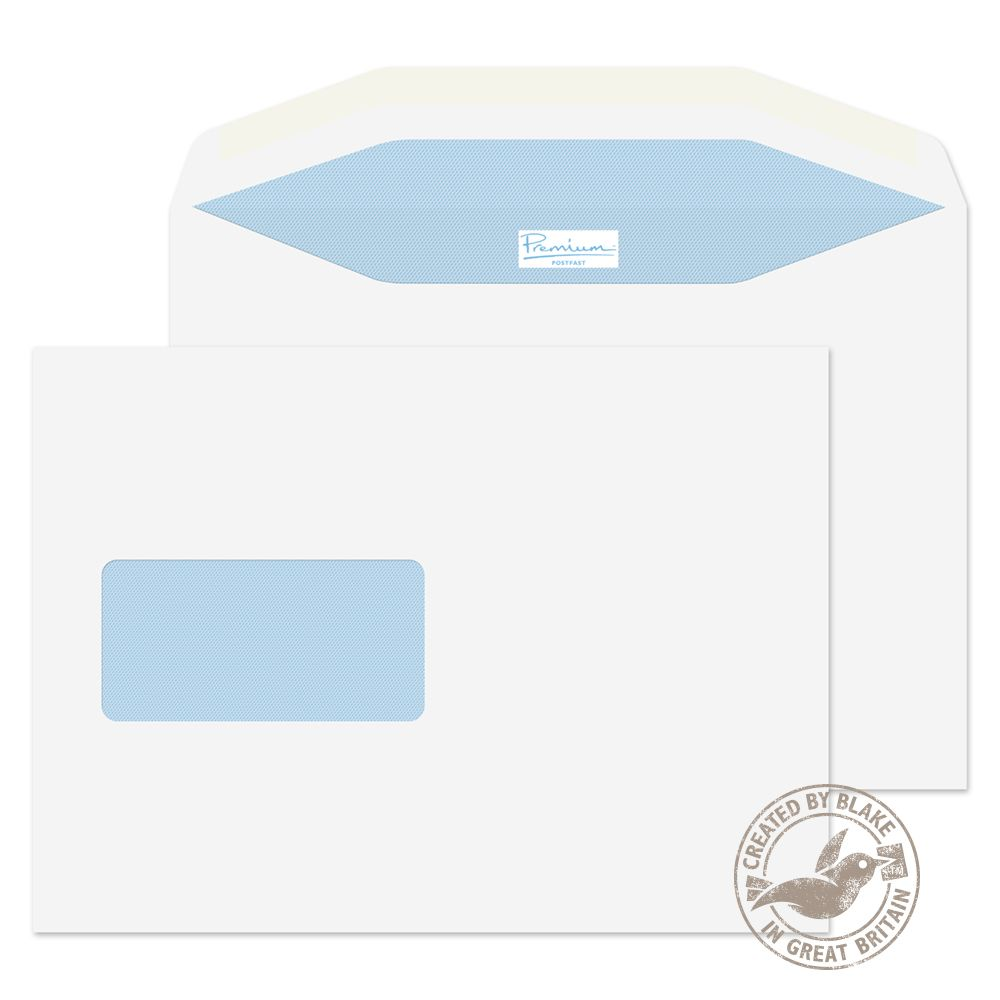 )Bla Mail Wall Wdw Gum Wht 162x235 Pk500