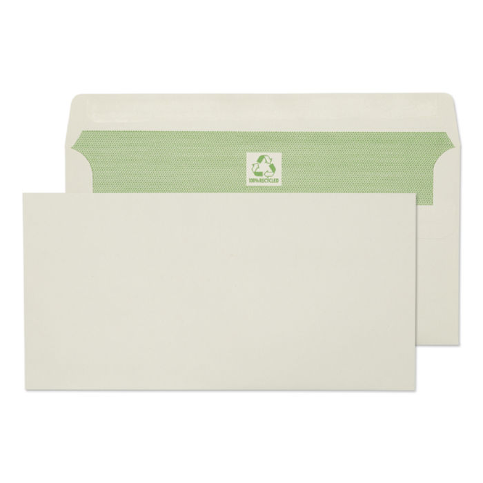 Purely Environmental DL 90gsm Self Seal Wallet White PK500