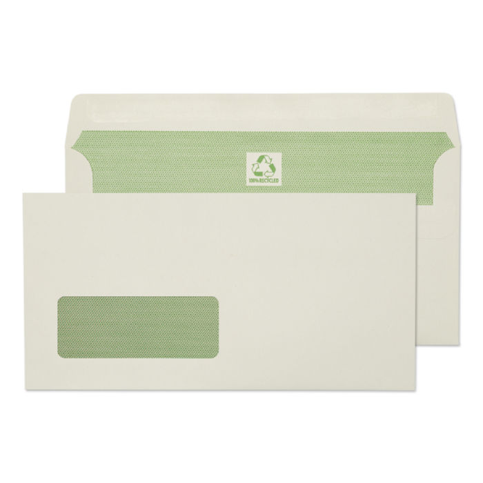 DL Purely Environmental DL 90gsm SS Wdw Wallet Ntrl White PK500