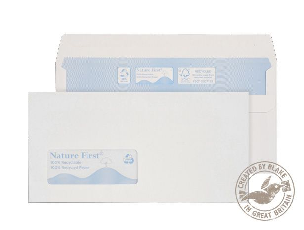 Nature First Wallet S/S DL Win 90gsm White RN17884 PK1000