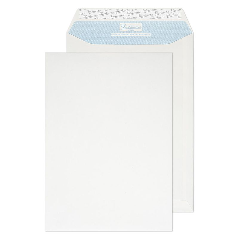 Secure Tear Resistant Pocket P&S White C4 125gsm PK125