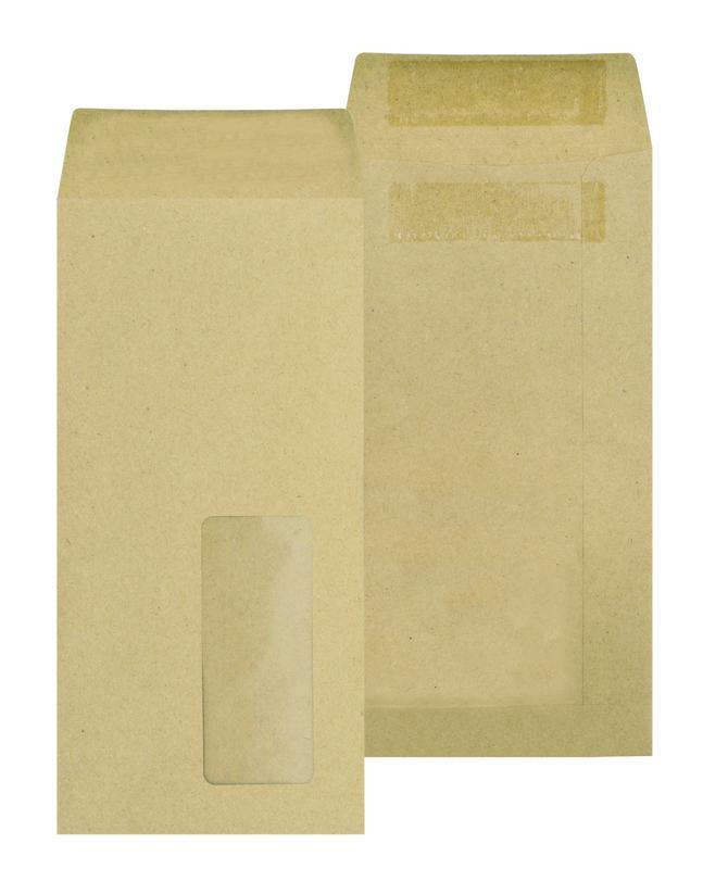 DL New Guardian Lightweight Pocket Self Seal Window Manilla DL PK1000