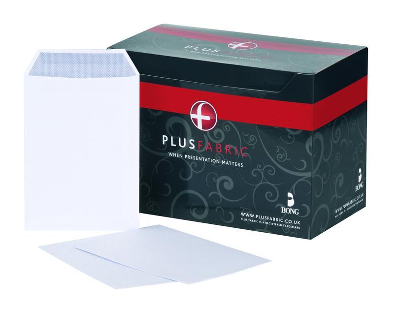 C5 Plus Fabric Pocket Envelope C5 Self Seal Plain 120gsm White (Pack 500)