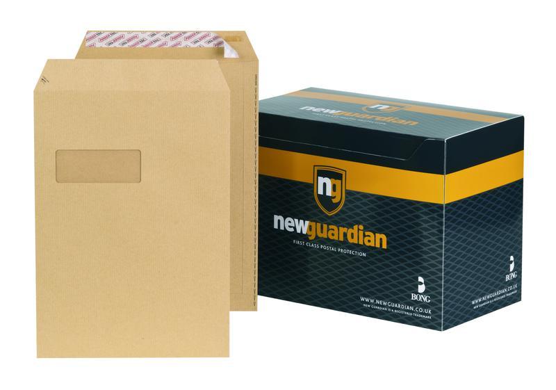 C4 New Guardian Heavyweight Pocket Peel & Seal Window Manilla C4 PK250