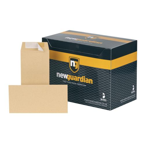 New Guardian DL Envelope Peel/Seal 130gsm Manilla (Pack of 500) E26503