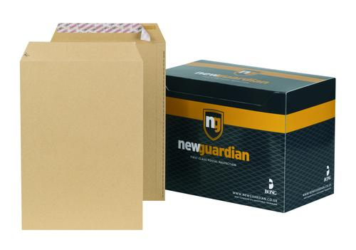New Guardian Pocket Envelope C4 Peel and Seal Plain Power-Tac Easy Open 130gsm Manilla (Pack 250)