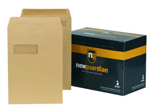 New Guardian C4 Envelope Window Self Seal Manilla (Pack of 250) M27503